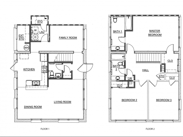 3 Bedroom Apartment Floor Plan | pearl harbor hickam housing | Hickam Communities