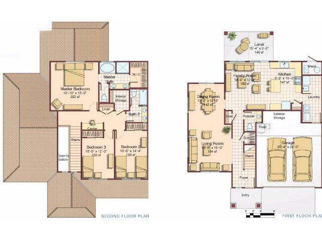 3 Bdrm 2 Story Floor Plan | Hickam Communities | Hickam Communities