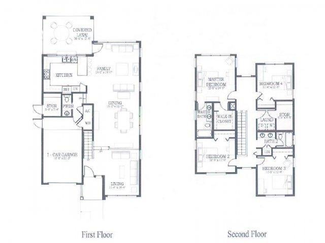 4 Bedroom 2.5 Bath Floor Plan | hickam housing floor plans | Hickam Communities
