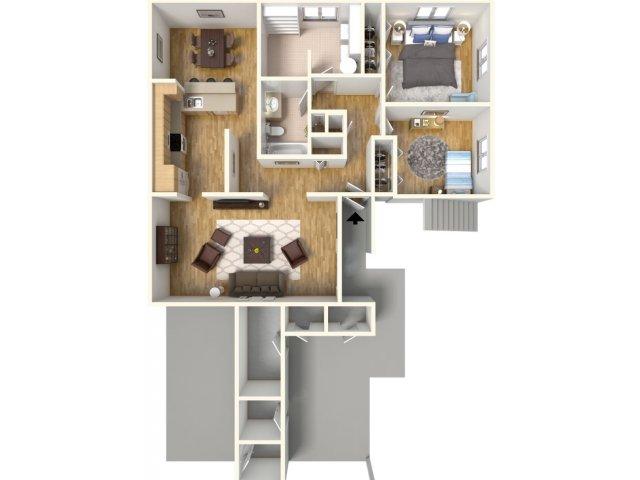 Floor Plan 8 | Schofield Barracks Hawaii | Island Palm Communities