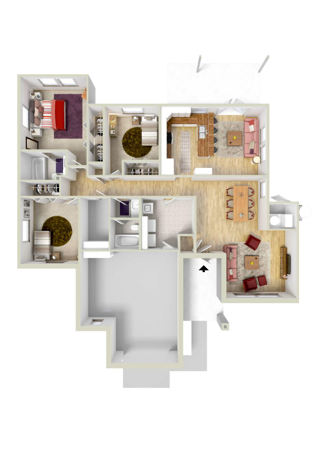 Floor Plan 3 | Ft Knox Housing | Knox Hills