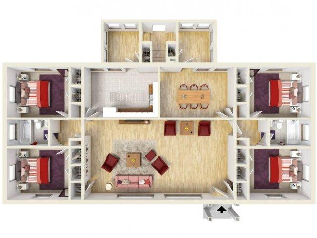 Floor Plan 2 | Fort Knox Housing On Post | Knox Hills