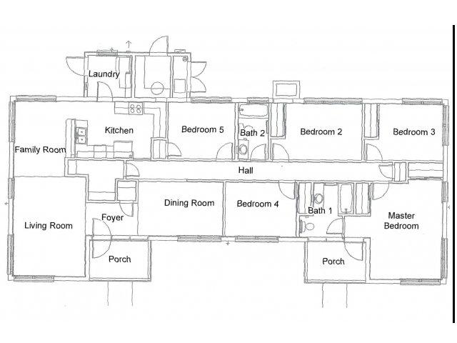 5 Bedroom Floor Plan | hickam housing floor plans | Hickam Communities