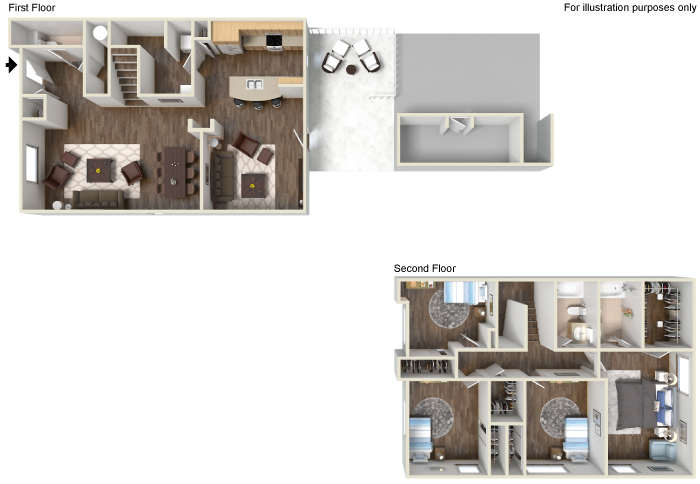 Floor Plan 24 | Fort Hood Family Housing | Fort Hood Family Housing