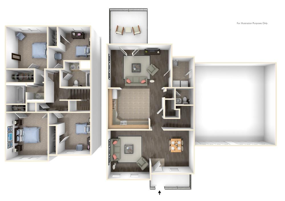 Stewart Terrace Noonan 3D Floor Plan