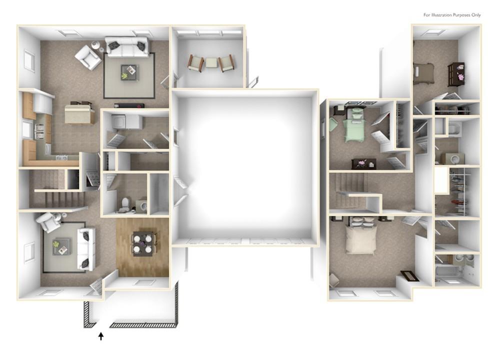 Stewart Terrace Singleton 3D Floor Plan