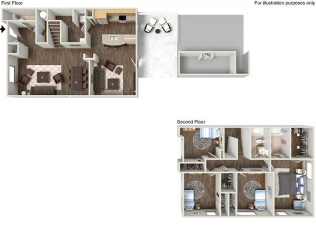 Floor Plan 26 | Fort Hood Housing | Fort Hood Family Housing