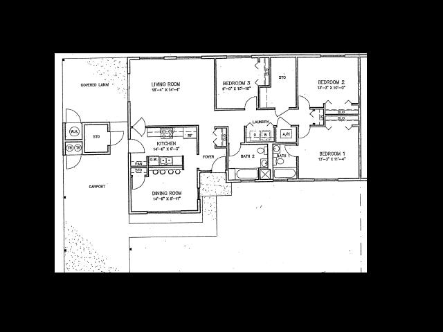 3 Bdrm Duplex Floor Plan | Hickam Communities | Hickam Communities