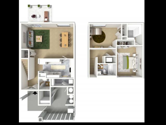 2 Bdrm Floor Plan | Hickam AFB Housing | Hickam Communities