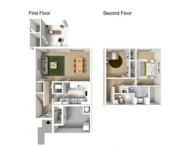 2 Bedroom Floor Plan | Hickam Air Force Base Housing | Hickam Communities