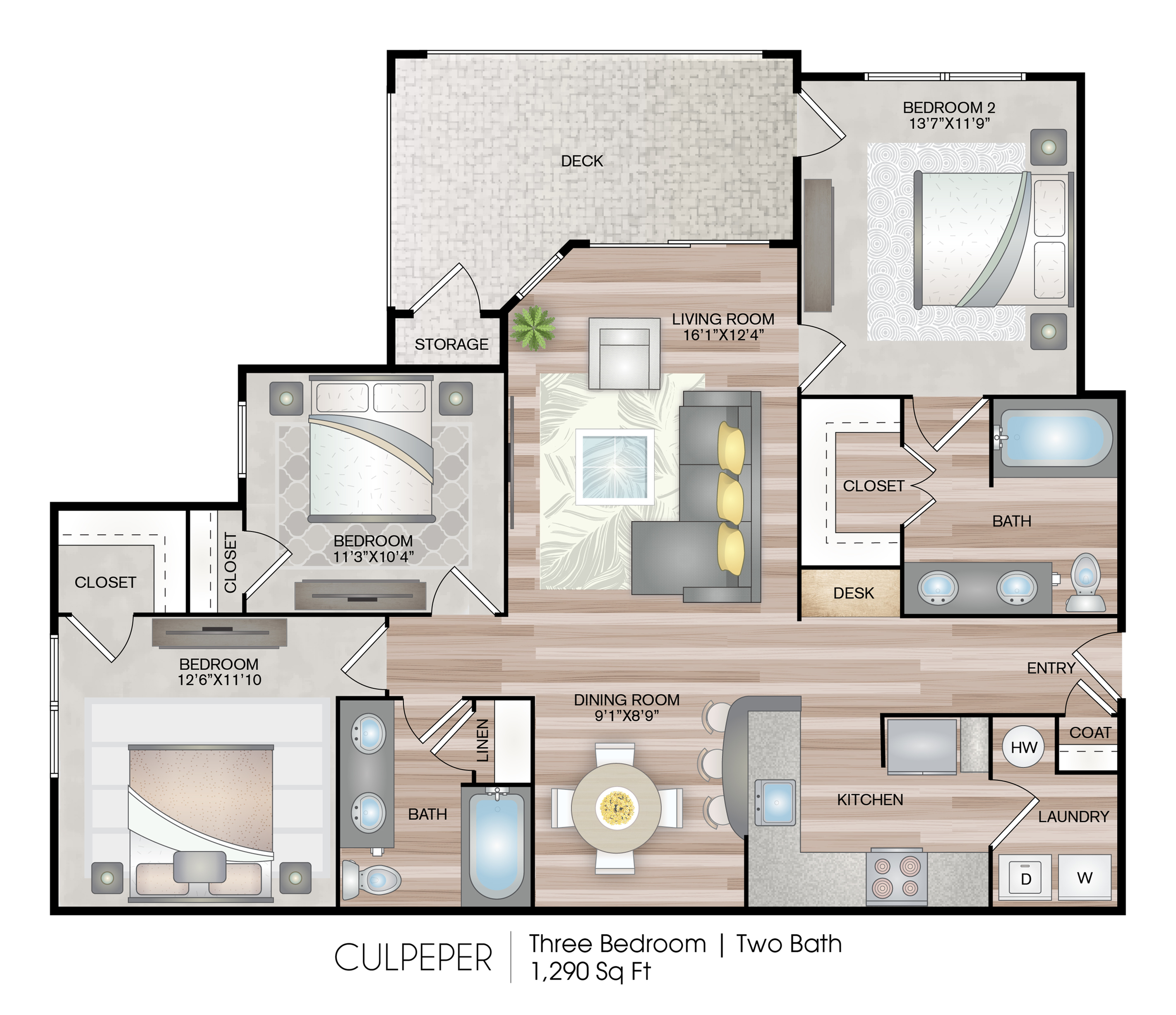 Culpeper 3 Bed Apartment Hideaway At Greenbrier Luxury Apartments