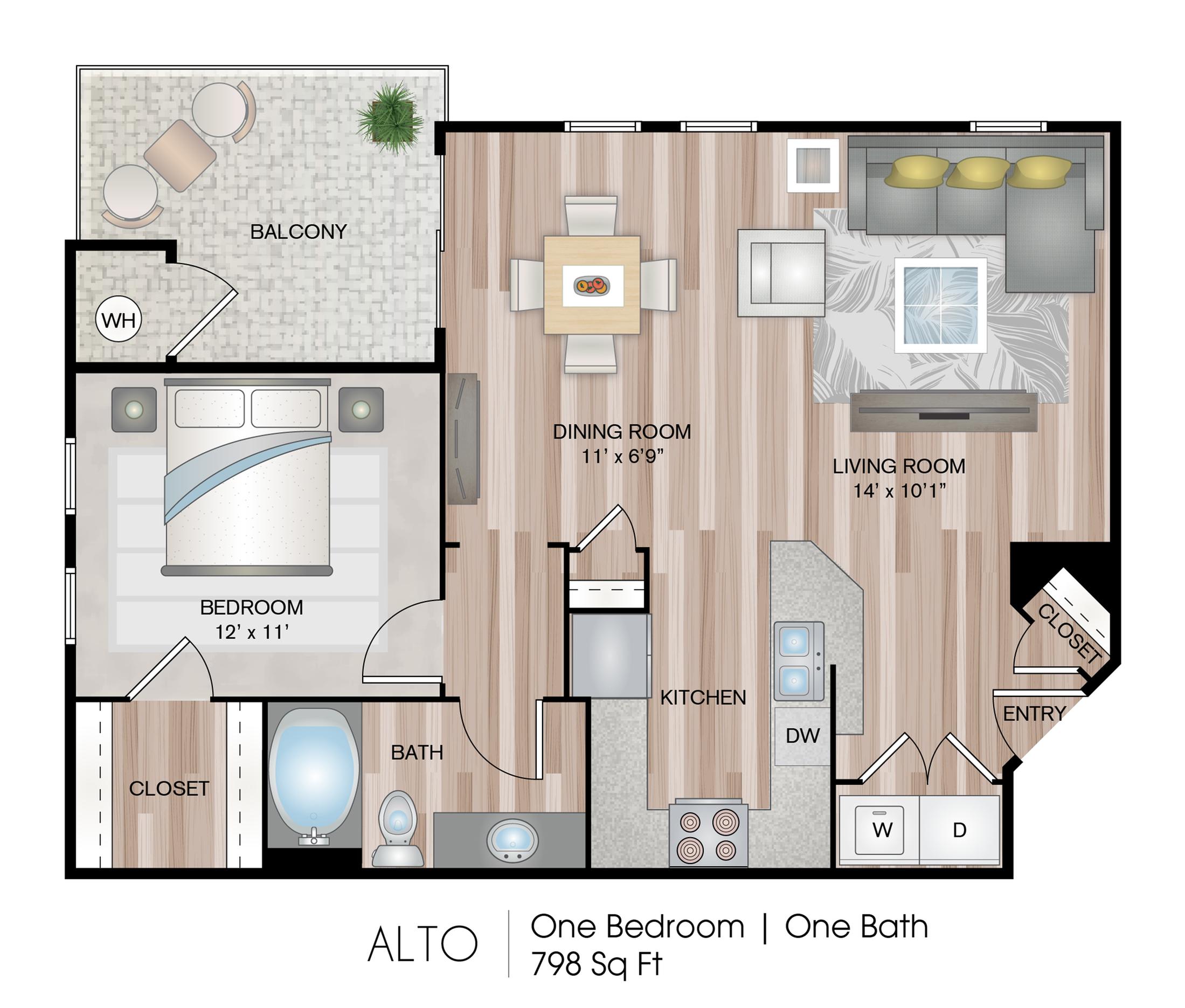Alto 1 Bed Apartment Serenade At Riverpark Luxury Apartments In Oxnard Ca Serenade At River Park