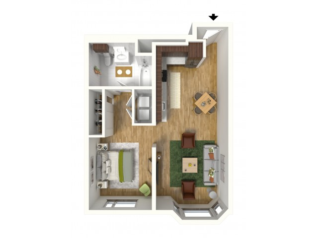 One Bedroom Alcove