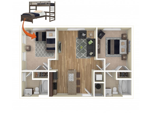Single Occupancy Floor Plan Style