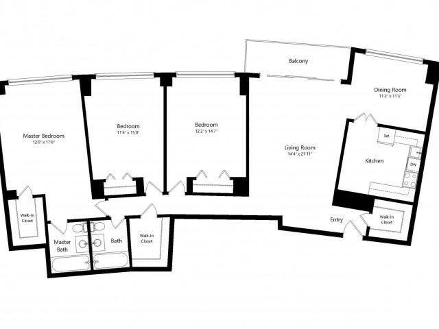 The Washington 3-Bedroom Floorplan