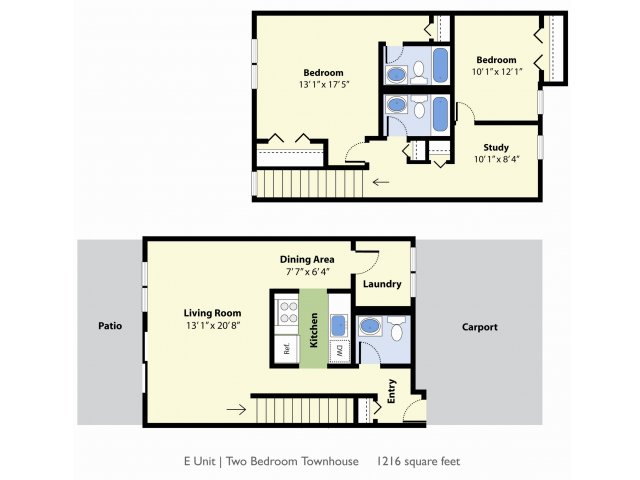 Floor Plan 1 | Apartments For Rent Falmouth Maine | Foreside Estates