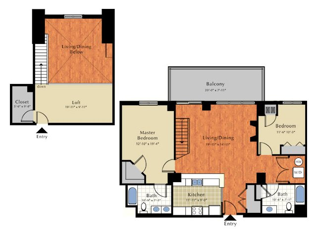 Floor Plan 5 | Apartments Near Lowell Ma | Grandview Apartments