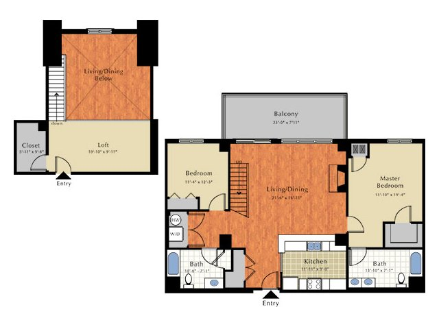 Floor Plan 6   Apartment For Rent In Lowell Ma   Grandview Apartments