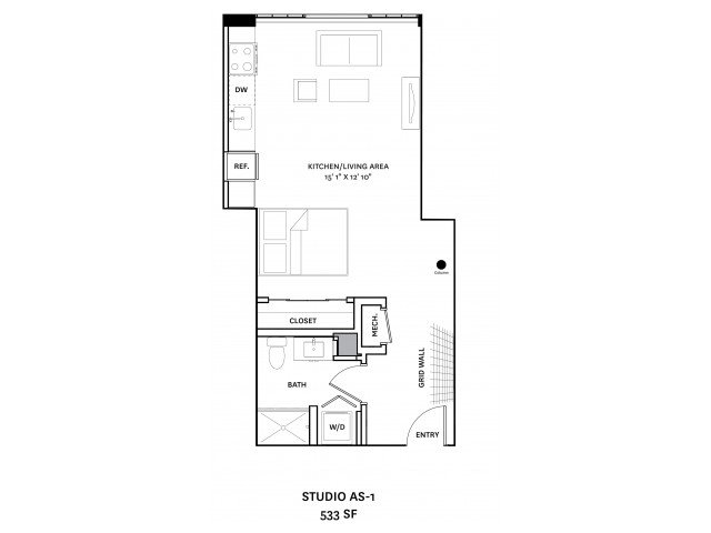 Floor Plan 2 | Charlestown Apartments Boston | The Graphic Lofts