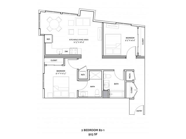 Floor Plan 17 | Charlestown Apartments Boston | The Graphic Lofts