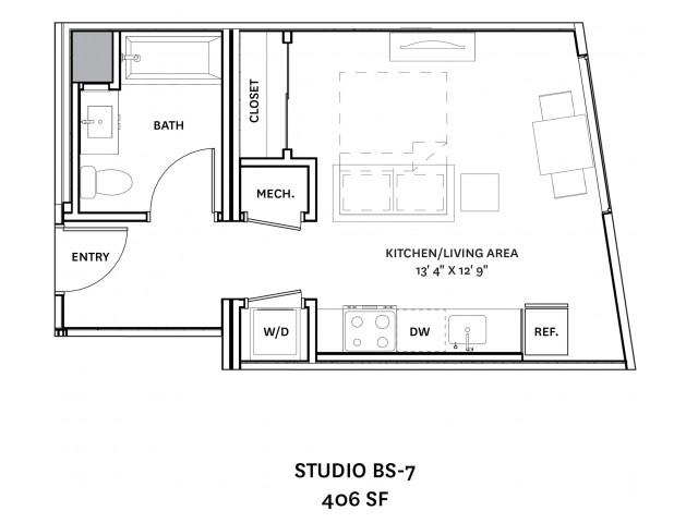 Floor Plan 3 | Charlestown Boston Apartments | The Graphic Lofts