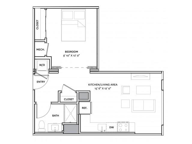 Floor Plan 7 | Charlestown Apartments Boston | The Graphic Lofts