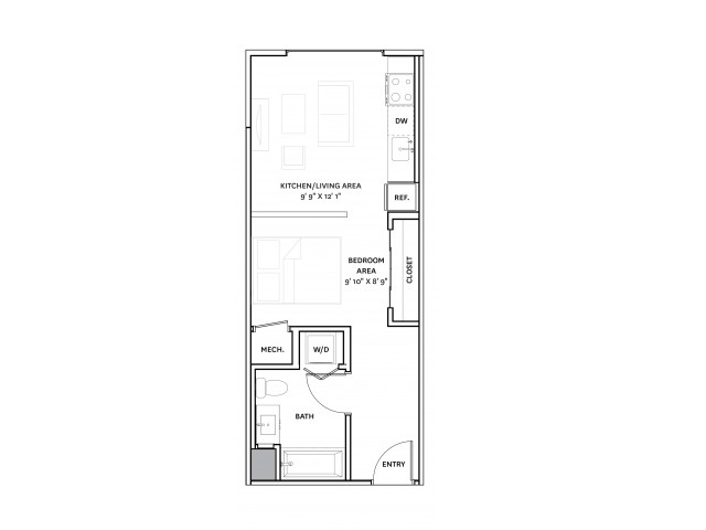 Floor Plan 4 | Charlestown Ma Apartment Complexes | The Graphic Lofts