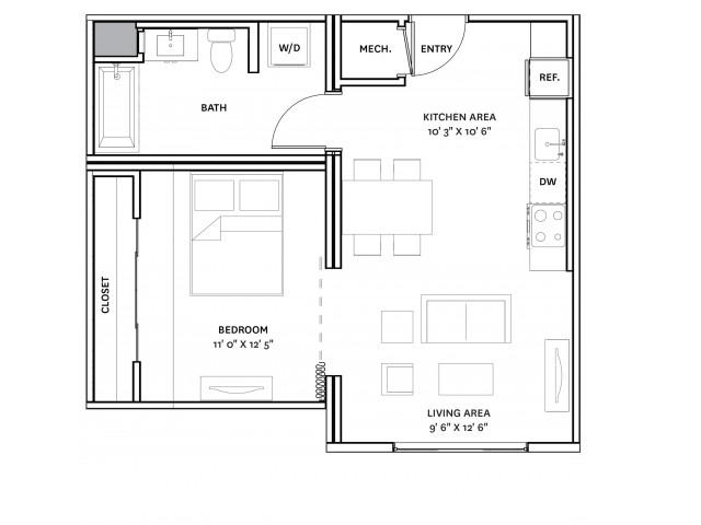 Floor Plan 8 | Charlestown Boston Apartments | The Graphic Lofts