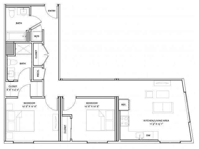 Floor Plan 18 | Charlestown Apartments Boston | The Graphic Lofts