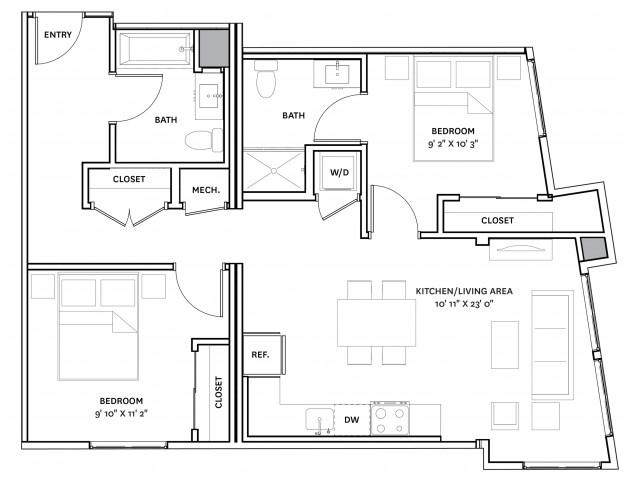 Floor Plan 19 | Charlestown Apartments Boston | The Graphic Lofts