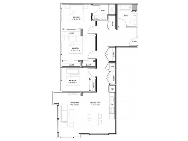 Floor Plan 18 | Charlestown Boston Apartments | The Graphic Lofts