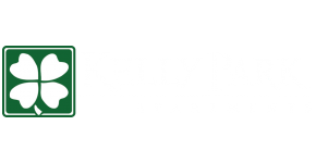 Kelly Park Apartments Overland Park Kansas Logo with Shamrock