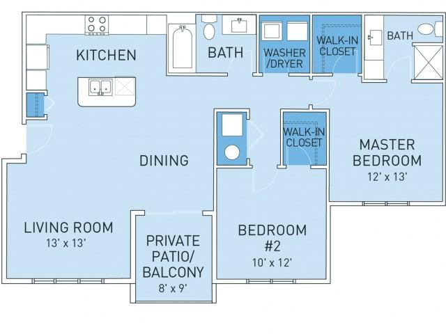 Floor Plan 1   Ridge45 Apartments