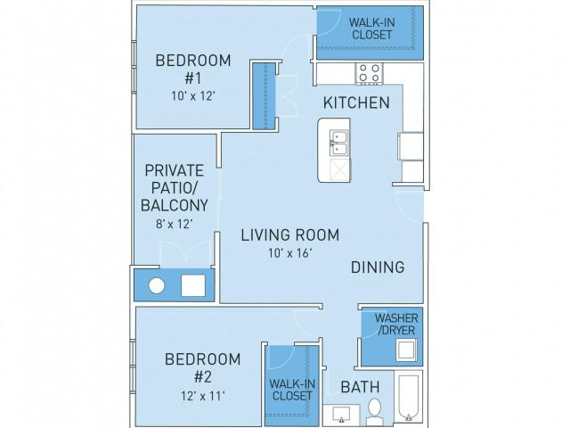 Floor Plan 3   Ridge45 Apartments
