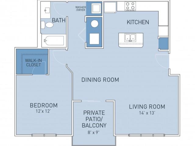 Floor Plan 8   Ridge45 Apartments