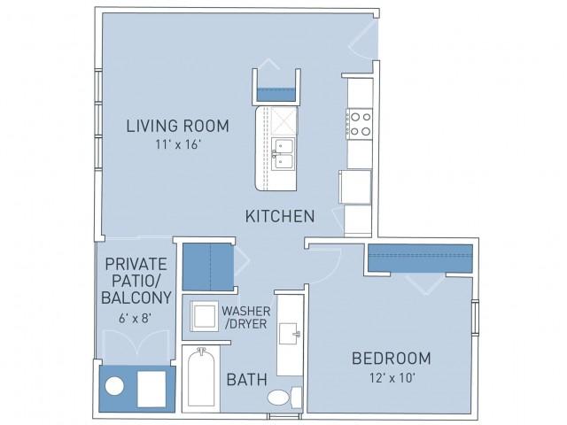 Floor Plan 5   Ridge45 Apartments