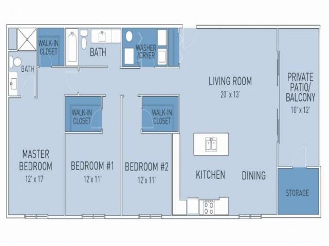 Floor Plan 6   Ridge45 Apartments