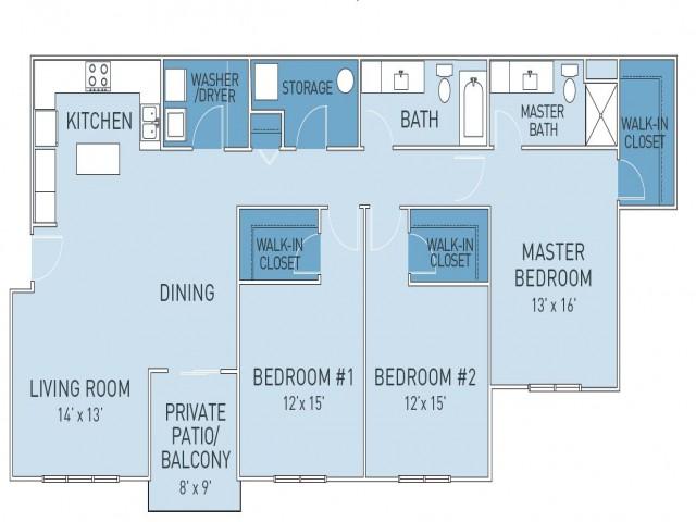 Floor Plan 7   Ridge45 Apartments