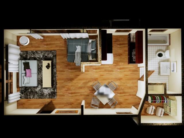 Standard Unfurnished Studio Apartment Studio Claremont Apartments