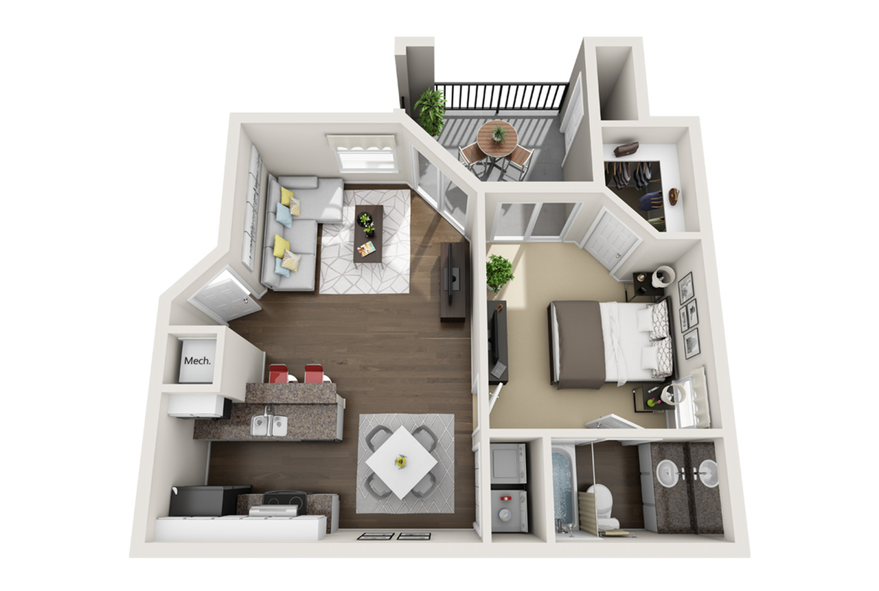 1 1 Small 1 Bed Apartment Laguna Place