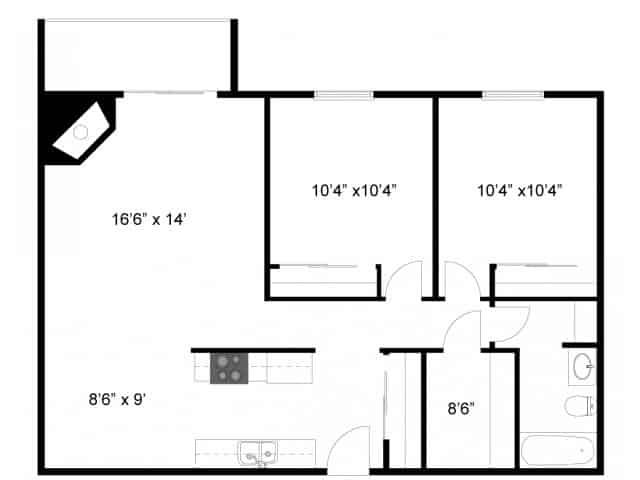 Floor Plan 2 | Eagan MN Apartments | Lexington Hills