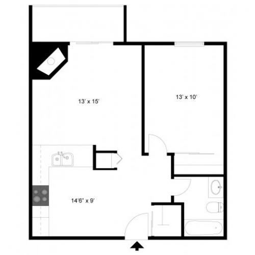 Floor Plan 1 | Apartments Eagan | Lexington Hills