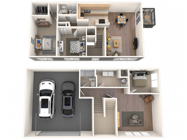 Three Bedroom Townhome with Two Car Garage