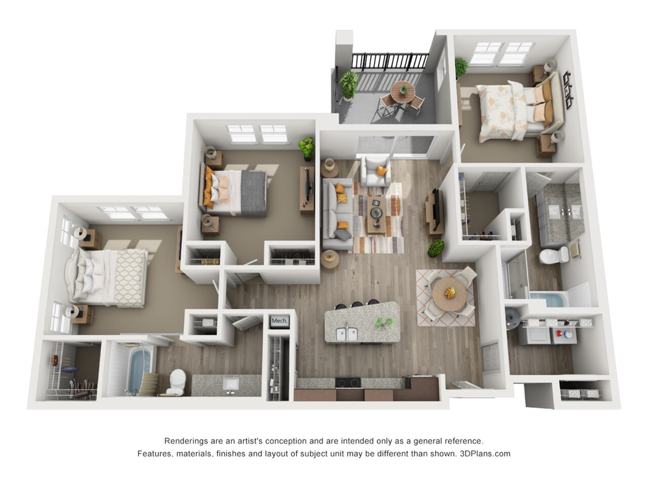C1 - 3 bedroom, 3 bathroom at Champions Vue
