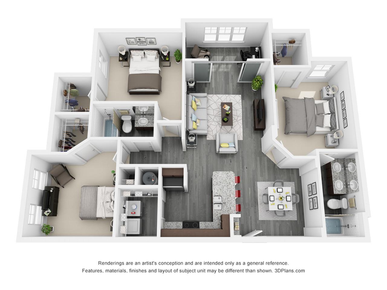 3 Bedroom, 2 Bathroom Key West