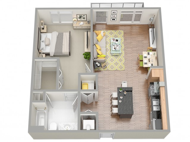 3D Floor Plan 2 | Clearwater Rentals | The Nolen