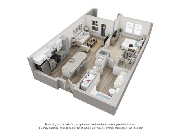 Lido | 1 Bdrm Floor Plan | Venice Isles Apartments | Apartments for Rent Venice FL