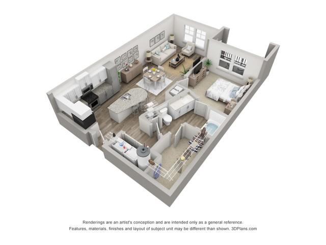 Pellestrina | 1 Bdrm Floor Plan | Venice Isles Apartments | Apartments for Rent Venice FL