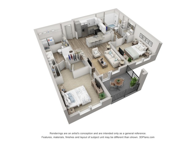 Burano | 2 Bedroom Floor Plan | Venice Isles Apartments | Apartments in Venice FL