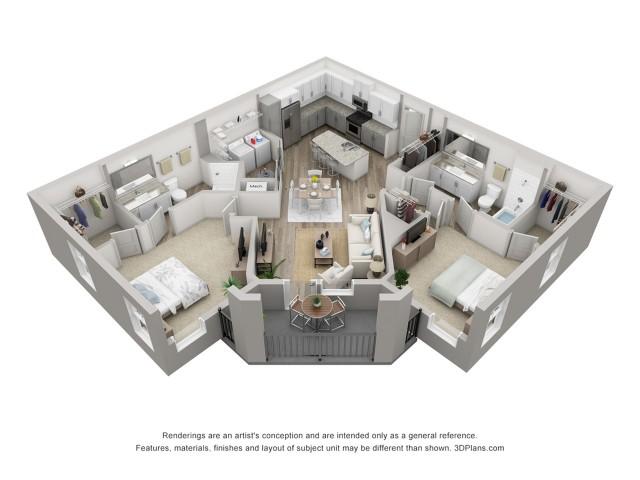 Torcello | 2 Bdrm Floor Plan | Venice Isles Apartments | Venice FL Apartments